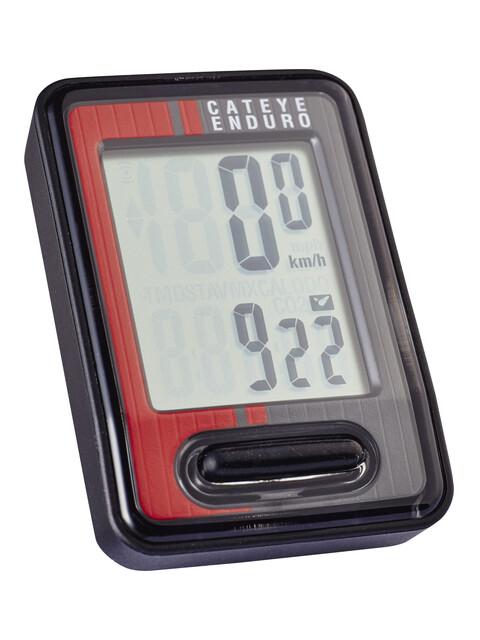 CatEye Enduro CC-ED400 - Compteur sans fil - rouge/noir